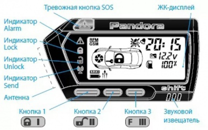 Брелок LCD D707